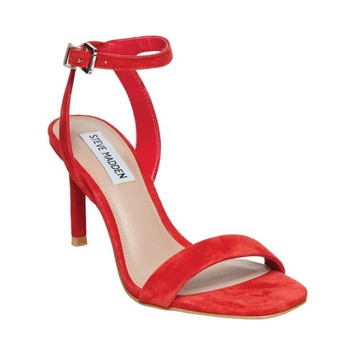 Women's Steve Madden Faith Ankle Strap Sandal, Size: 6 M, Red Suede