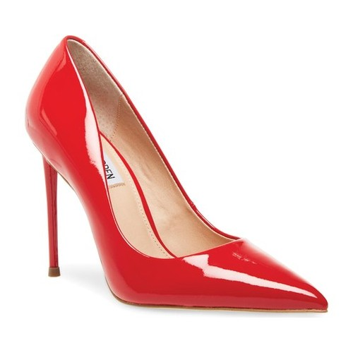 Women's Steve Madden Vala Stiletto Pump, Size: 7.5 M, Red Patent Leather/Synthetic