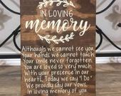 In Loving Memory Wedding Sign Memorial Table Wedding Sign Rustic Wedding Sign