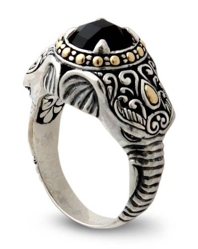 Men's Handcrafted Sterling Silver and Onyx Ring
