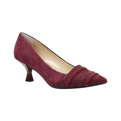 Women's J. Renee Septima Pump, Size: 10 W, Burgundy Suede