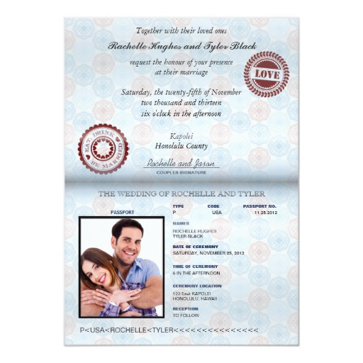Passport (rendered) Wedding Invitation II-no glare