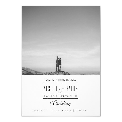 Modern & Minimal Wedding Photo Invite