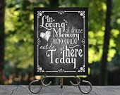 In Loving Memory Chalkboard Printable Wedding Memorial Sign, Rustic Wedding Sign, Chalkboard Sign, of those who Could not be here today