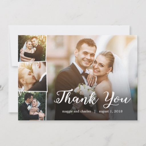 Overlapped Photos Thank You Card