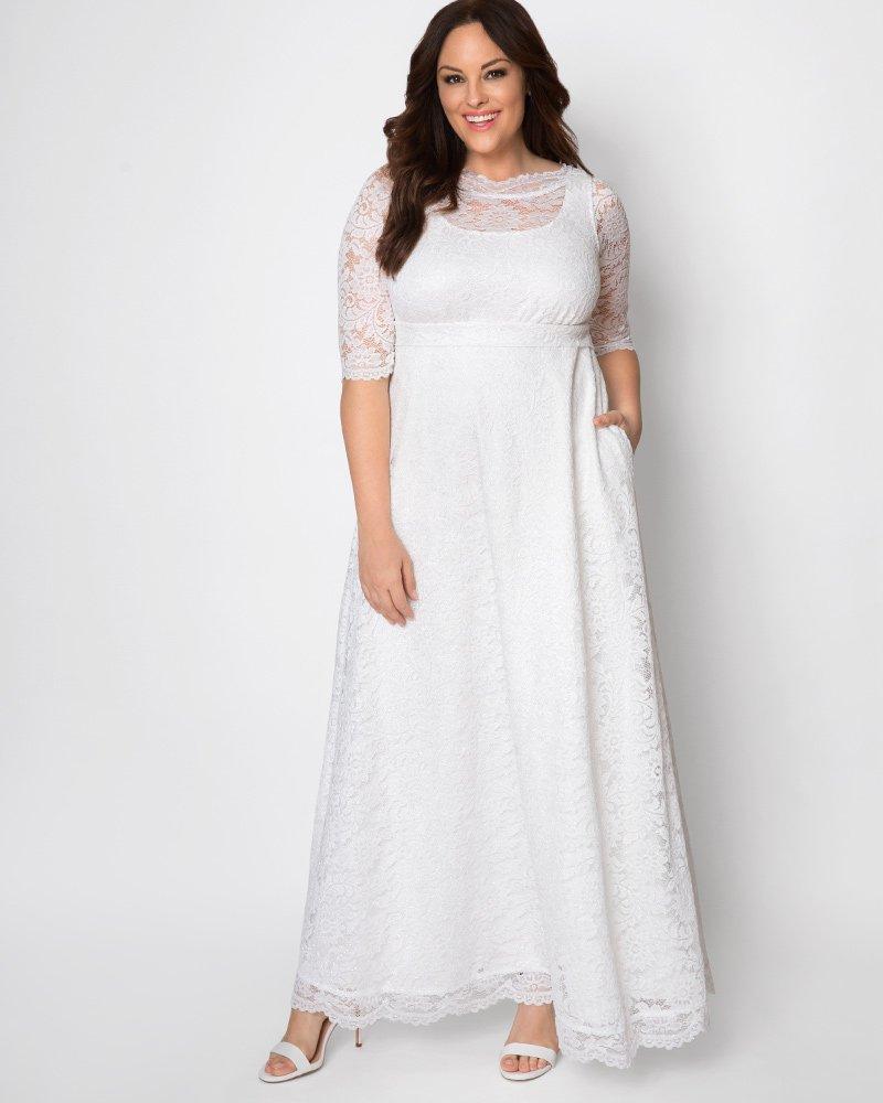 Kiyonna Womens Plus Size Sweet Serenity Wedding Gown - Sample Sale