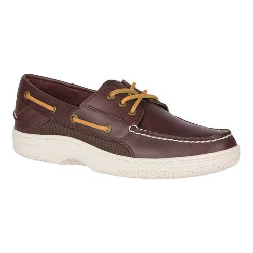 Men's Sperry Top-Sider Billfish 3-Eye Boat Shoe, Size: 8.5 M, Classic Brown Full Grain Leather