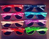 Customized Sunglasses, Bulk, bachelorette party favors, bachelor party, birthday party favors, dance teams Fonts 2nd Photo in Gallery