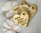 50 Heart Thank You Wedding Favors, 3 Wedding Favor Magnet, Bride, Groom, Gift, Save the Date