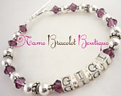 Gigi Bracelet, Grandma Gift jewelry any name or personalization with grandchild or childrens birthstones or names