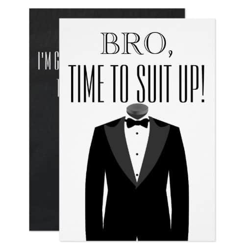 Groomsman or Best Man Proposal Invitation