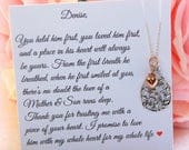 Mother of the Groom Gift Mother of the Bride Gift Mother in Law Gift Wedding Gift Family Tree Necklace Mother of the Groom necklace