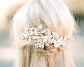 Bridal Headpiece, EMMA ANNE Bridal Pearl Hair Comb,Freshwater Pearl Hairpin, Swarovski Comb, Gold Bridal Pearl Headpiece, Bridal Hairclip