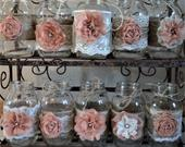 Rose Gold Wedding Centerpieces, Rustic Mason Jars, Country Barn Wedding, Baby Girl Shower Decorations, Jars not Included