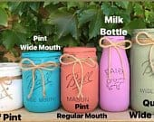 Painted Mason Jars Centerpieces Holiday Decor Holiday Gifts House Warming Gift