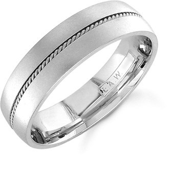 Brushed Platinum Wedding Band