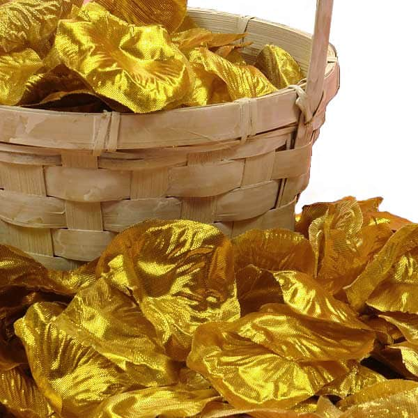 Silk Gold Rose Petals by Ribbons.com