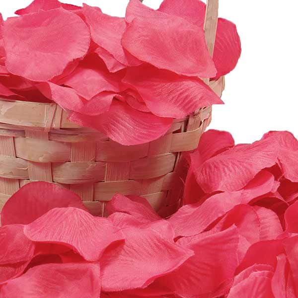 Silk Hot Pink Rose Petals by Ribbons.com