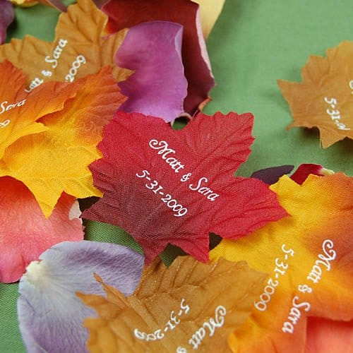 Personalized Fall Leaf Petals