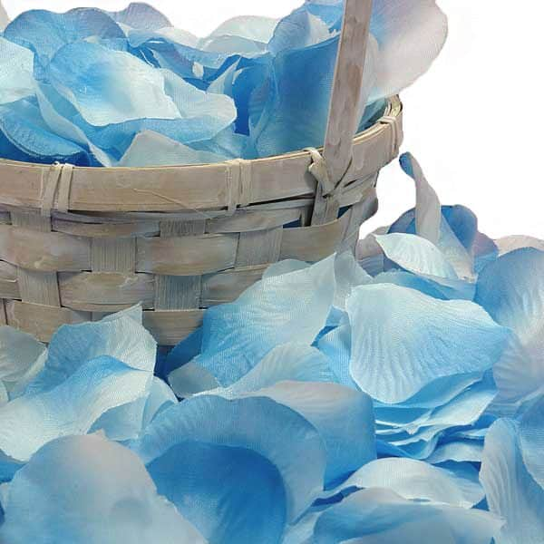 Turquoise Rose Petals Silk - Wedding Packaging - Approx. # Of Petals/pack: 400 by Paper Mart