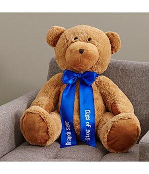 "Personalized 27"" Plush Teddy Bear - Blue Ribbon"