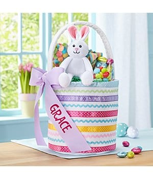 Personalized Ribbons & Bows Easter Basket