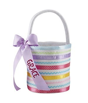 Personalized Ribbons & Bows Easter Basket-W/Out Candy
