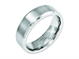 Chisel Cobalt Beveled Edge Satin And Polished 7mm Weeding Band