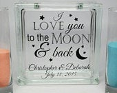 Sand Ceremony Set Wedding Sand Set Unity Sand Ceremony Set Beach Wedding Decor Unity Candle Set Vow Renewal Love You To The Moon