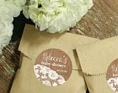 24 Paper Favor Bags Burlap Lace Label Wedding Favor Bags Bridal Shower Favor Bags Kraft Favor Bags Baby Shower Favors Delicate