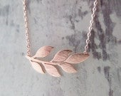 Leaf necklace in Gold, Silver or Rose Gold...dainty handmade necklace, everyday, simple, birthday, wedding, bridesmaid jewelry