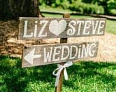 Rustic Wedding Sign, Country Wood Signs, Reception Signs, Street Signs, Custom Wedding Signs, Name Signs, Cowgirl Cowboy