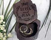 Ring Bearer Box, Wedding Ring Box, Wood Ring Box, Wooden Ring Box, Rustic Ring Box, Custom Wedding Ring Box, Personalized 31520RBOX006