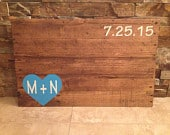 Rustic Pallet Wood Wedding Guestbook Rustic Alternative Wedding Wooden Guest Book