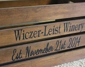 Custom Personalized Rustic Wine Wedding Crate Decor Card Box