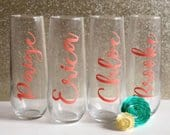 Champagne Glass Decals, Wine Glass Decal, Custom Vinyl Wedding Decal