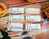 4 inch Name decals, vinyl decals, name stickers for DYI weddings, wine glasses, cups, personalized. Bachelorette Party, Bridesmaid Gift