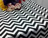 CHEVRON RECTANGLE Tablecloth Colors Zigzag Red, Black, Yellow, Chevron Wedding Bridal 54 60 84 96 108