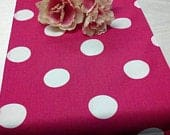 POLKA DOT RUNNER or Tablecloth, choose color, Table Runner, XLarge Polka Dot, Choice of Fuchsia, Black, Pink Brown, Theme Party