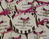 Custom Bachelorette Party Wine Charm Favors Girls Night Out, Birthday Party, or Special Event