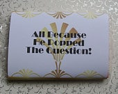 Popcorn Wrapper ART DECO Wedding Microwave Popcorn Sleeve Favor Welcome Gift Hotel Guest Great Gatsby 20s