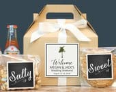 Palm Tree Wedding Welcome Box Tropical Out of Town Guest Box Wedding Welcome Bag Out of Town Guest Bag Wedding Favor Vintage Palm