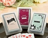 40 Decks of Playing Cards Wedding Favors with Personalized Vintage Design Cover Sticker Cheap Playing Cards (6704ST)