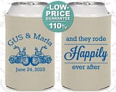 Custom Wedding Favors, Personalized Wedding Favors, Wedding Can Coolers, Rehearsal Favor, Unique Wedding Favors, Wedding Guest Favors (C200)
