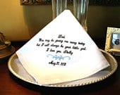 Father of The Bride Handkerchief Hankie Hanky You may be GIVING ME AWAY Always be your little girl Wedding MisterandMrs