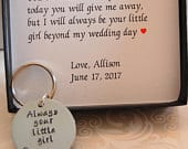 Father of the Bride keychain, Father of the bride gift from daughter, Always your little girl, Father of the Bride Gift