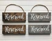 Wedding Reserved Sign Wood Reserved Sign Reserved Sign Wedding Signs Wedding decor Wedding Aisle Sign Ceremony Aisle Sign