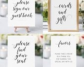 Printable Wedding Sign Bundle Guestbook Sign Cards and Gifts Sign Find Your Seat Sign Favors Sign Alejandra