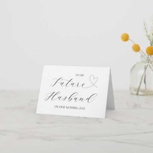 Simple Groom Gift From Bride To My Future Husband Card