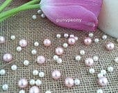 150 Pcs Pearls Ivory/Blush Pink For Table Scatters/Confetti and wedding decors
